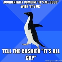 The cashier just apologized for the long wait