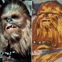 The Chewbacca on the classic Star Wars sheets looks annoyed to be fighting