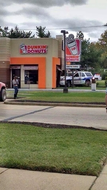 The cops really wanted donuts this morning