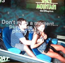 The couple in front of me on space mountain the other day