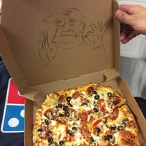 The customer ordered a pizza just right