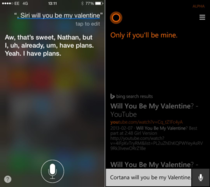 The Difference Between Cortana and Siri When It Comes To Valentines