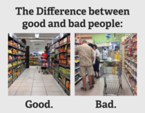 The Difference between good and bad people