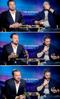 The difference between Leonardo DiCaprio and Tom Hardy