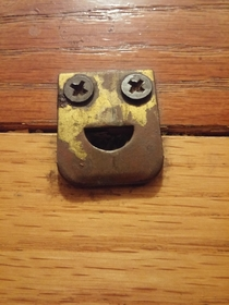 The door latch in my house is always happy to see me
