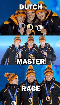The Dutch are very tolerant of accepting were all equal Except when it comes to speed skating