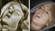 The Ecstasy of St Teresa By Gian Lorenzo Bernini- Lindsay Lohan passed out after a night of partying