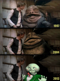 The evolution of CGI Jabba the Hutt