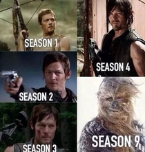 The evolution of Daryl Dixon