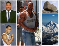 The evolution of Dwayne The Rock Johnson