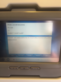 The fight I was on had seat to seat messaging