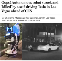 The first casuality of the robot race war