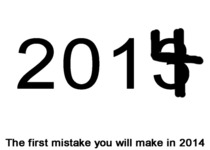 The first mistake you will make in