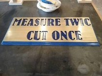 The golden rule of woodworking