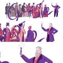 The google doodle today is about a chemist but it looks like its about the man who discovered the dildo
