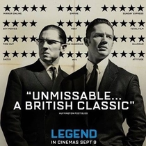 The Guardian gave Tom Hardys new film Legend two stars The films poster designer hid it in plain sight