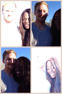 The hardest part of being in a biracial relationship is taking a picture together