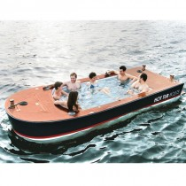 The height of luxury a hot tub boat