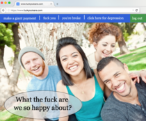 The homepage of every student loan website ever