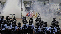 The Hong Kong police has revealed  tear gas cans were used to stop these  individuals