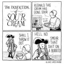 the invention of sour cream