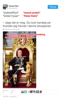 The king of Norway everybody