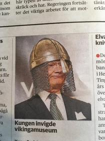 The king of Sweden opening a new Viking museum