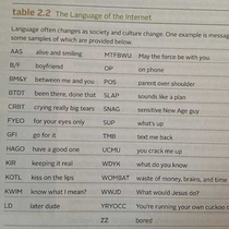 The language of the internet according to a s textbook