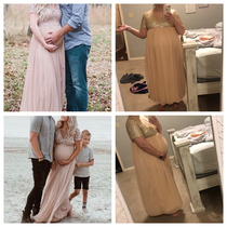 The left pictures are the dress my wife bought online for her maternity pictures the right pictures are what was sent to her