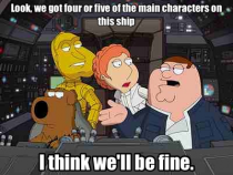The logic I use when watching a movie with multiple main characters in the same dangerous situation