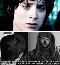 The Lord of the Rings would have been so much sassier had Wilfred been there to comfort Frodo in his hour of darkness