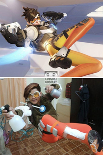 The low-cost cosplay man nails Tracer