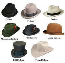 The many types of fedoras according to reddit