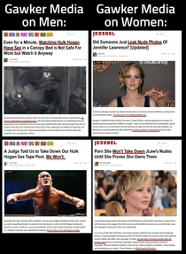 The medias double standard on naked celeb leaks is laughable
