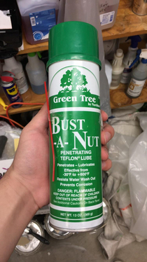 The name of this penetrating lube I found at my jobs custodial closet