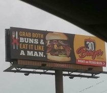 The new billboard for my local burger place