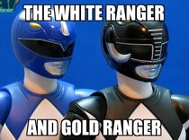 The new White and Gold Power Rangers