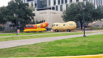 The Nut Bus is behind The Weiner Mobile