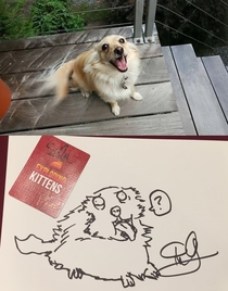 The Oatmeal drew my dog at PAX Nailed it