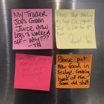 The office fridge today