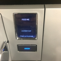 The office Keurig might be possessed