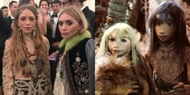 The Olsen twins attended the Met Gala last night cosplaying as the last  gelfling from The Dark Crystal