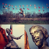 The only reason I never wanted the Nathan Bedford Forest monument taken down in Nashville is because he looks fucking RIDICULOUS