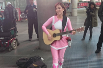 The original pink power ranger trying to make ends meet