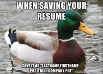 The people looking at your resumes will thank you and think highly of you