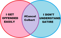 The people who supported the CancelColbert hashtag