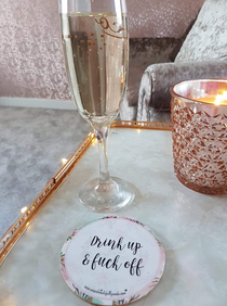The perfect coaster for unwanted guests