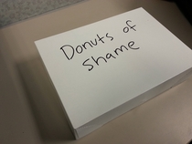 The person with lowest sales each week has to bring in donuts