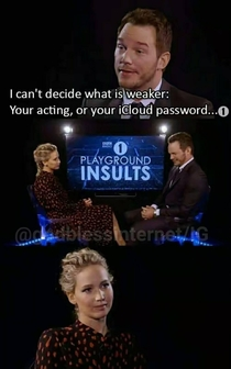The priceless reaction of Jennifer Lawrence
