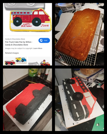 The requested Fire Truck Cake for my sons th birthday tomorrow Its currently pm and started at pm after a long shift at work